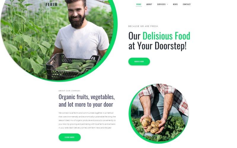 Ferim - Tema de Elementor de WordPress minimalista multipropósito para entrega de alimentos