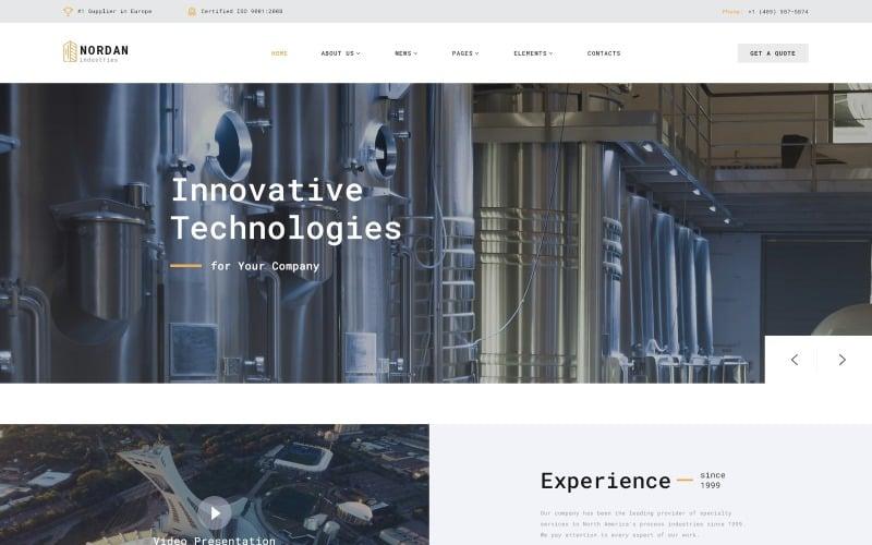 Nordan - Industrial  Ready-to-Use Modern Novi HTML Website Template