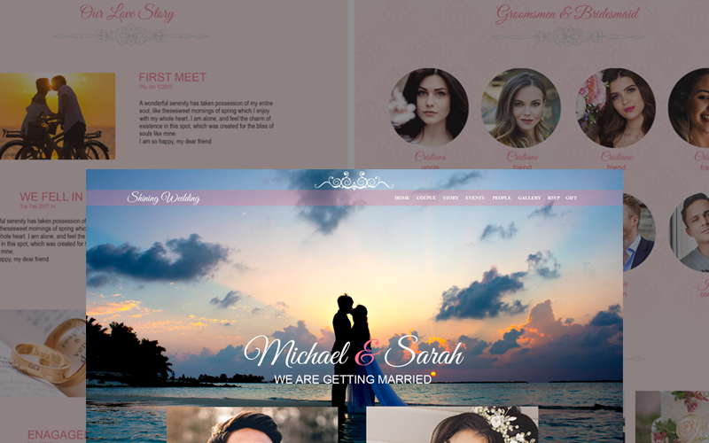 Shining Wedding - Wedding PSD Template