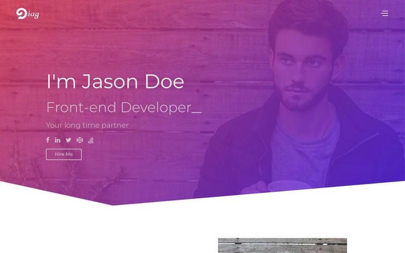Diag - Personal Portfolio Website Template