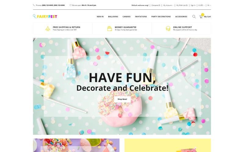 FairyFest - Современный шаблон OpenCart для праздничного магазина
