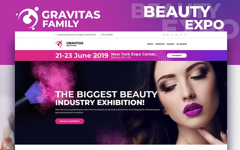 Gravitas - Modèle de page de destination MotoCMS 3 Beauty Expo