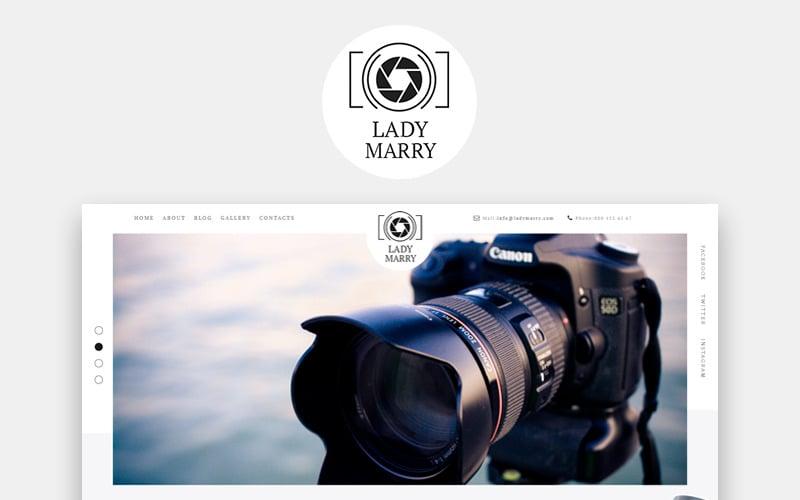 Lady Marry - Готовая к использованию творческая тема WordPress Elementor для фотографий