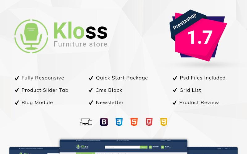 Tema de PrestaShop de Kloss Furniture