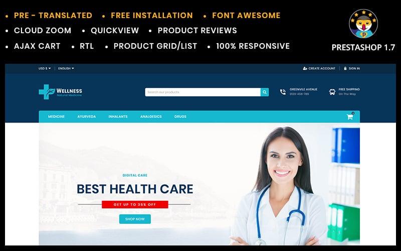 健康医学和消毒剂商店PrestaShop主题