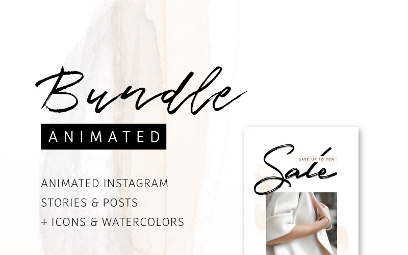 BUNDLE: ANIMATED Instagram Stories & Posts – So Female Social Media Template
