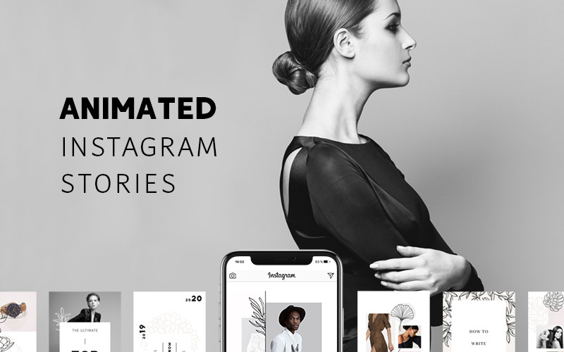 Historias de Instagram ANIMADAS - Plantilla pura para redes sociales