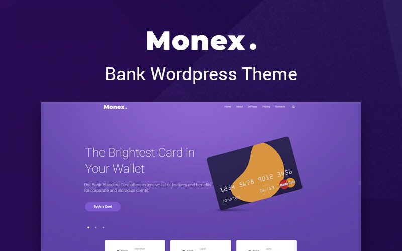 Monex - Bank Services Multipurpose Classic WordPress Elementor Theme