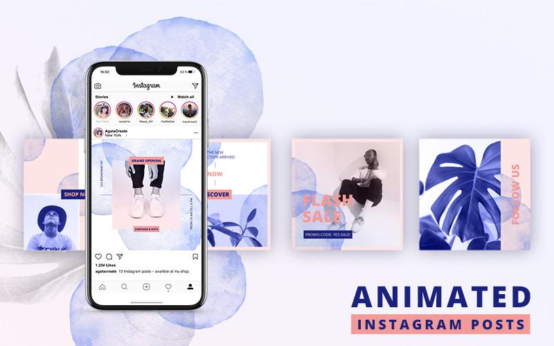 Publicaciones ANIMADAS de Instagram: plantilla atrevida para redes sociales