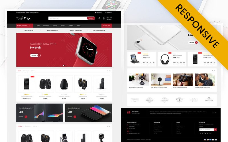Totertrax Electronics Store OpenCart Template