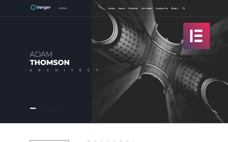 Verger - Architecture Company Multipurpose Creative WordPress Elementor Theme