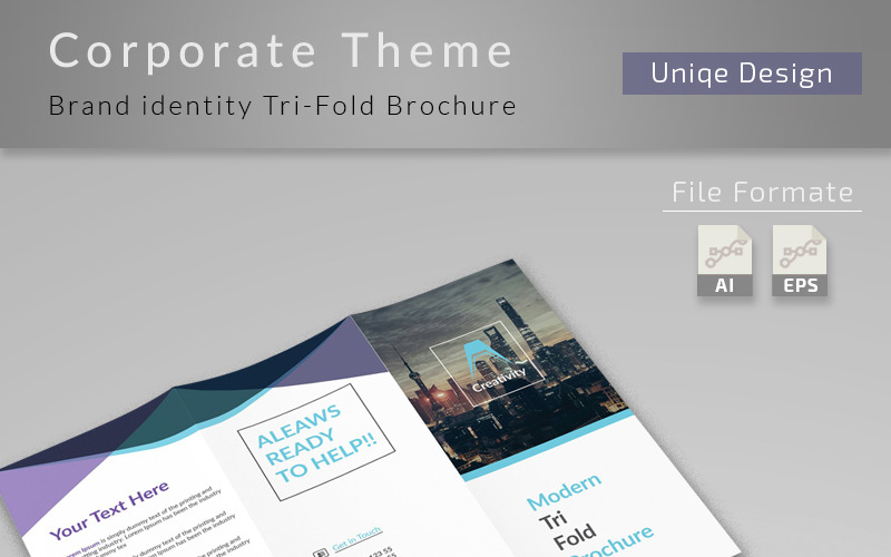 Clean and Creative Trifold Brochure - Corporate Identity Template