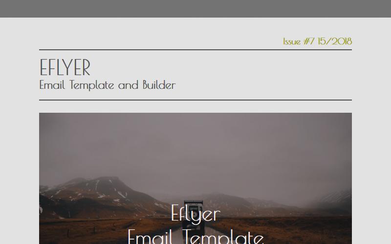Eflyer - Modèle de Newsletter