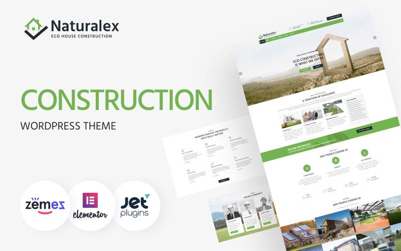 Naturalex - будівельна багатоцільова класична тема WordPress Elementor
