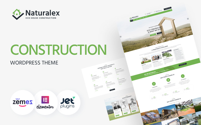 Naturalex - Многоцелевая классическая тема WordPress Elementor