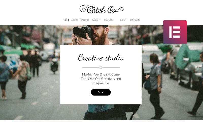 Catch Co - Tema creativo multiuso per WordPress Elementor di Photo Studio