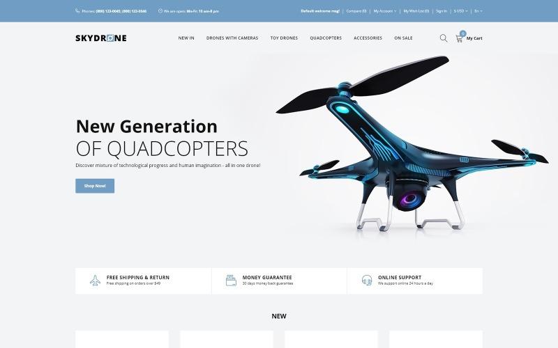 Skydrones - elegantní šablona OpenCart reagující na kvadrokoptéru