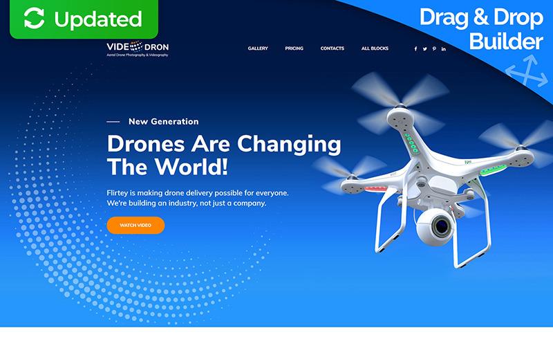 Drone Photography Úvodní stránka Šablona