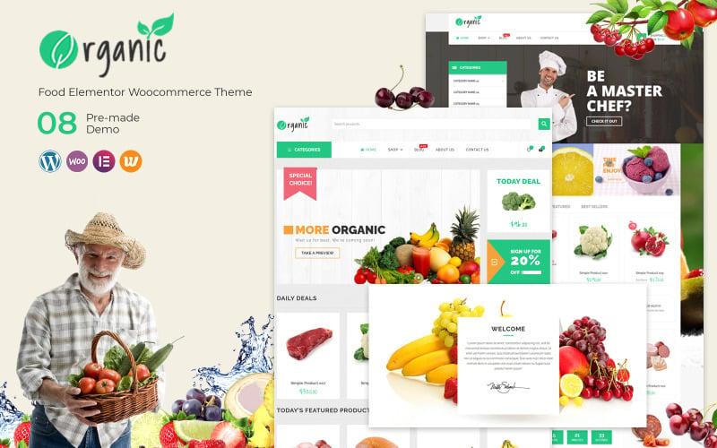 Органический продукт - тема WooCommerce Food Elementor
