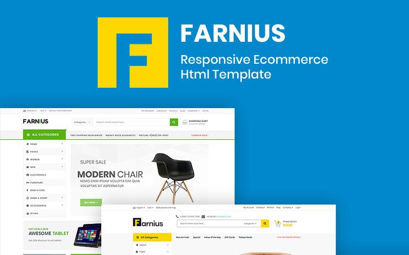 Farnius - Möbelaffär HTML5 webbplatsmall