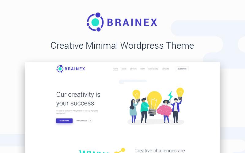 Brainex - Многоцелевая минимальная тема для WordPress Elementor от Creative Studio
