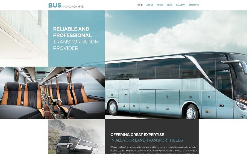Bus and Coach Hire - Транспортный минималистичный шаблон Joomla