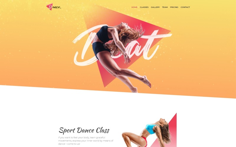 Dance - Plantilla Joomla creativa de una página de Dance Studio