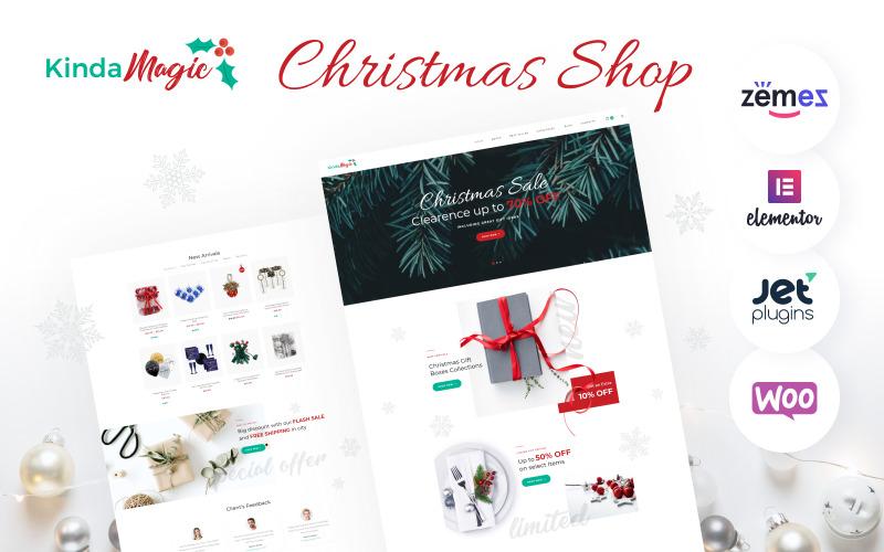 Kinda Magic - Волшебная и вдохновляющая рождественская тема WooCommerce