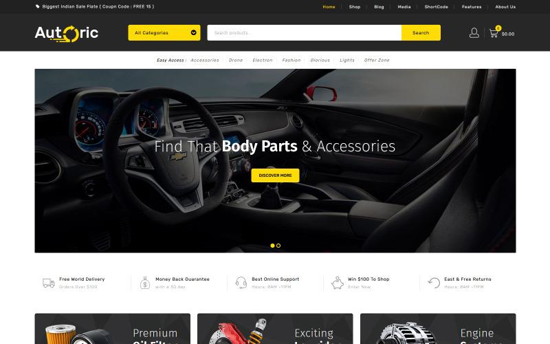 Autoric - Thème WooCommerce pour pièces de rechange automobiles