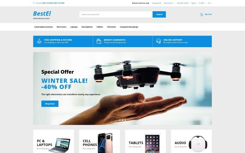 BestEl - Готовый к использованию минималистичный шаблон OpenCart для магазина электроники