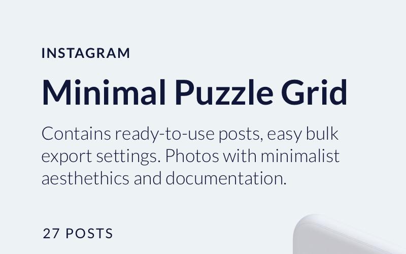 Modèle de médias sociaux minimal Instagram Puzzle Grid