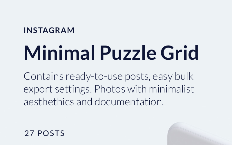 Minimal Instagram Puzzle Grid Social Media Template
