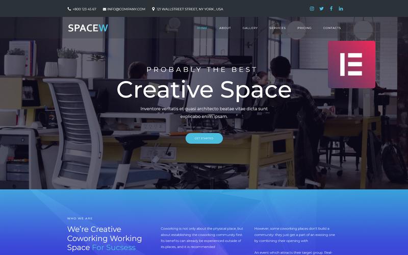 Spacew - многофункциональная современная тема WordPress Elementor для бизнеса