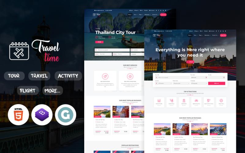 TravelTime - Complete Tour & Travel Agency WordPress Theme