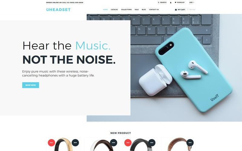 Headset - Dynamic Flawless Bootstrap Shopify Theme