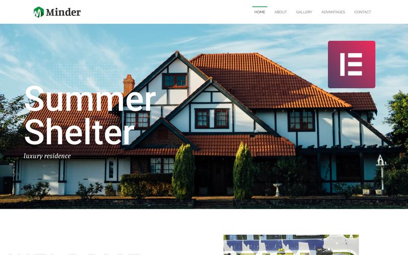 Minder - Многоцелевая классическая тема WordPress Elementor Luxury Residence