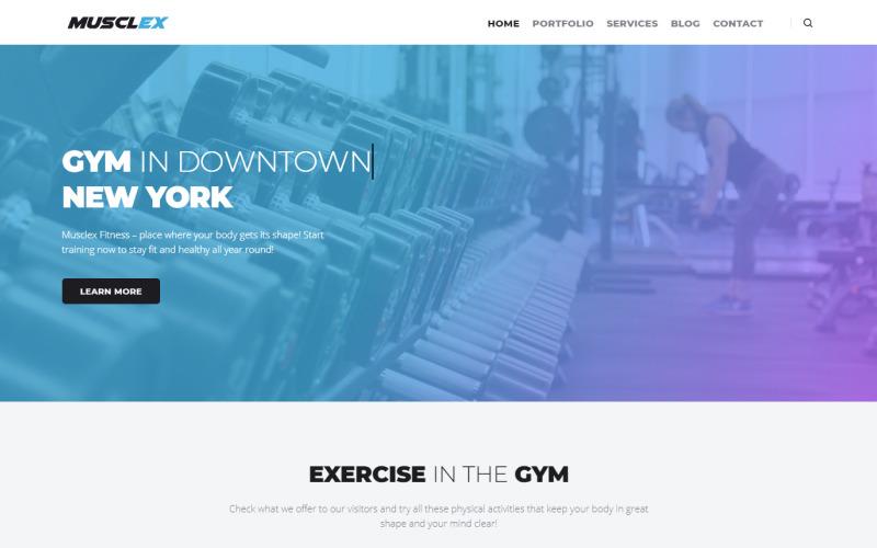 Musclex - многофункциональная современная тема WordPress Elementor для фитнеса