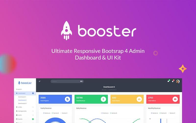 Booster - Bootstrap + Laravel Dashboard Admin Template