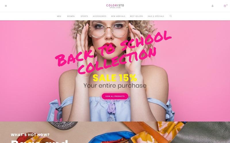 Coloristo - Thème WooCommerce Elementor moderne pour magasin de vêtements ECommerce