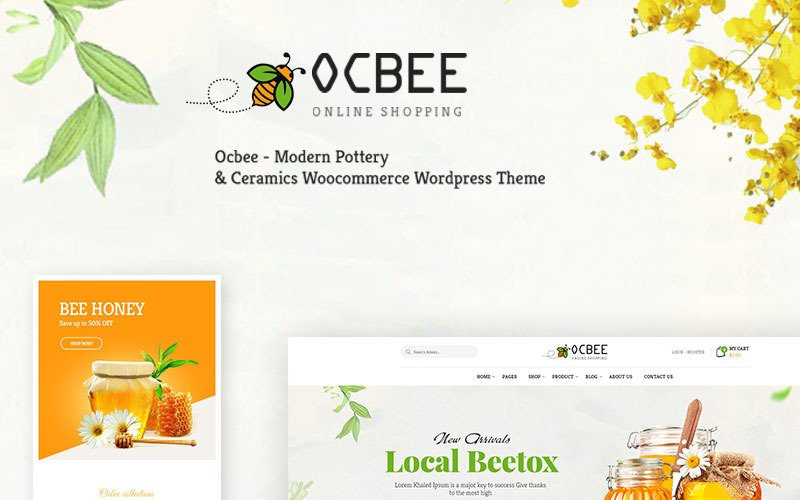 Ocbee - Mézelő méhtermelés WooCommerce téma