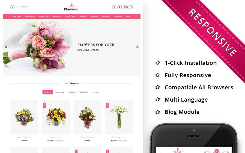Flowerio - Адаптивный OpenCart шаблон цветочного магазина