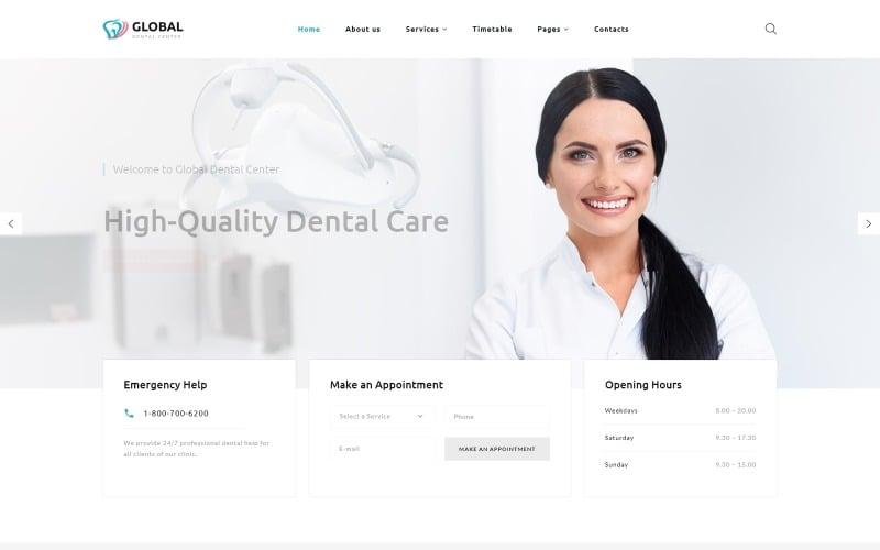 Global - Dental Center Multipage Clean HTML5 Website Template