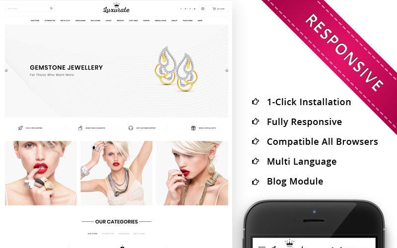Luxurate - Адаптивный OpenCart шаблон для ювелирного магазина