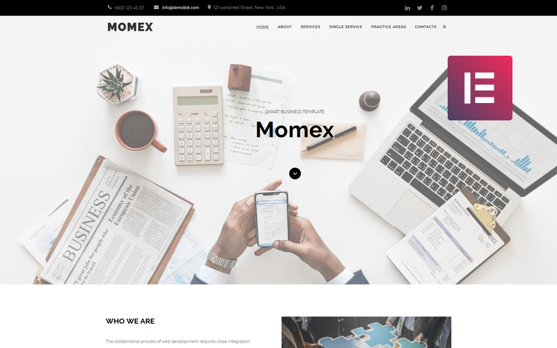 Momex - Tema Business WordPress Elementor