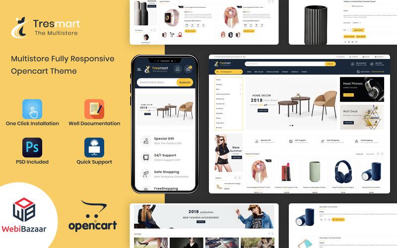 Tresmart - Шаблон OpenCart для торгового центра