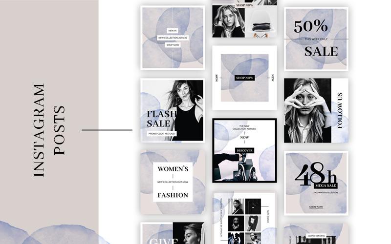 FASHION Instagram публикует шаблон для социальных сетей