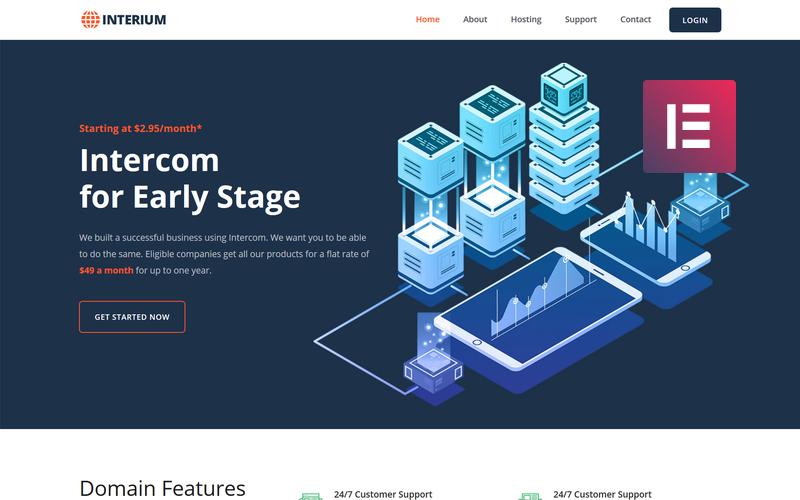 Interium - Hosting WordPress Elementor Theme