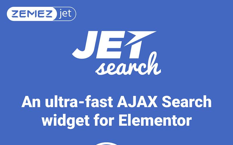 JetSearch - An ultra-fast AJAX Search widget for Elementor WordPress Plugin