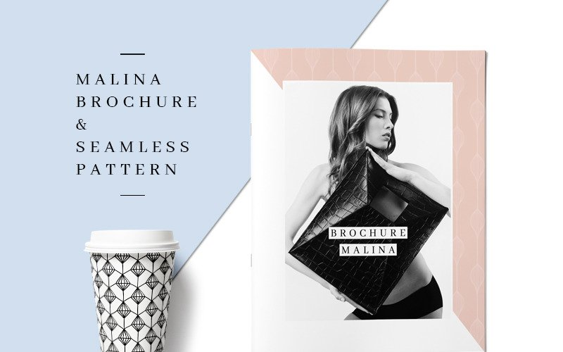 MALINA 24 Pages Brochure + 20 Pattern - Corporate Identity Template