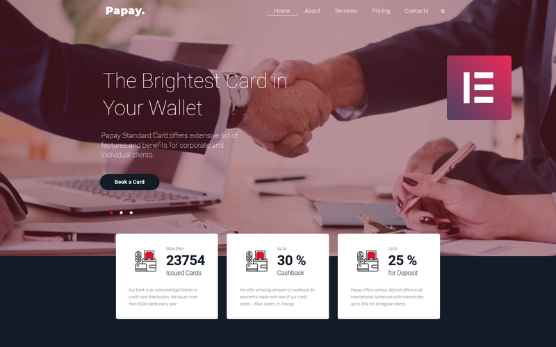 Papay - Bank Services Multi-Concept Classic WordPress Elementor Theme